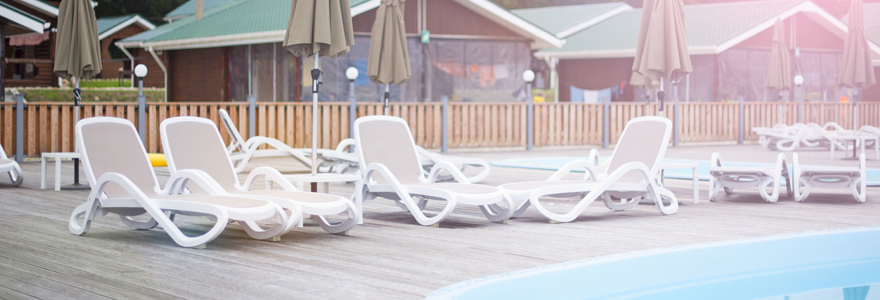 camping avec piscine à Vallon